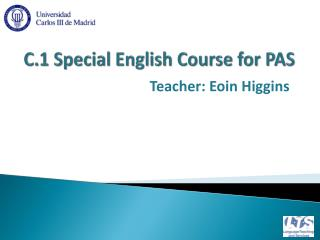 C.1  Special  English  Course for  PAS