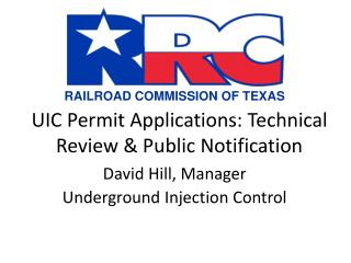 UIC Permit Applications: Technical Review & Public Notification