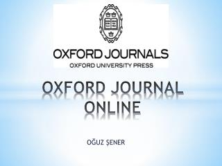 OXFORD JOURNAL  ONLINE