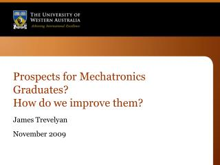 Prospects for Mechatronics Graduates?   How do we improve them?