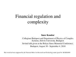 Financial regulation and complexity