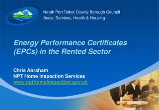 Energy Performance Certificates (EPCs) in the Rented Sector