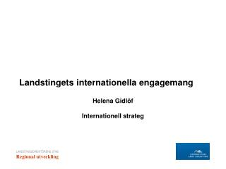 Landstingets internationella engagemang