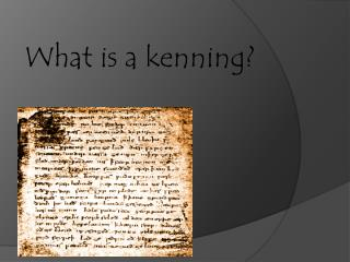 What is a kenning?