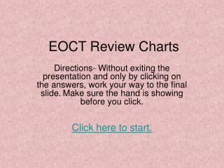 EOCT Review Charts