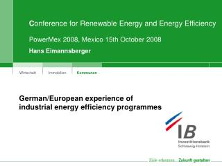 C onference for Renewable Energy and Energy Efficiency