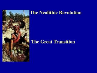 The Neolithic Revolution The Great Transition