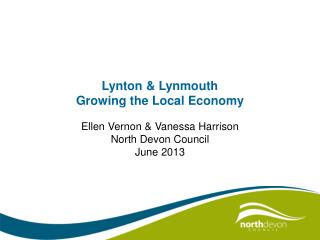 Lynton & Lynmouth Growing the Local Economy