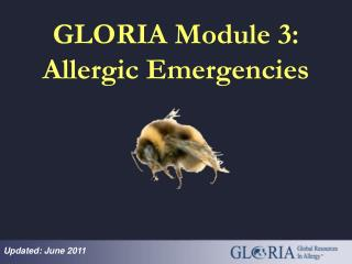 GLORIA Module 3: Allergic Emergencies
