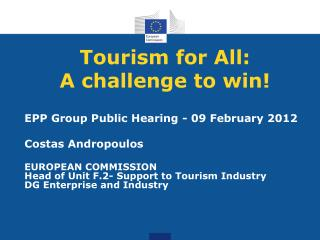 Tourism for All: A challenge to win!