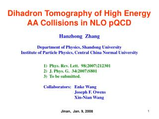 Dihadron Tomography of High Energy AA Collisions in NLO pQCD
