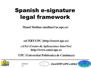 Spanish e-signature legal framework