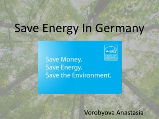Save Energy In Germany