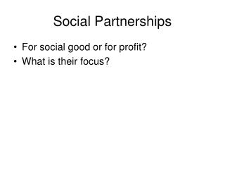 Social Partnerships
