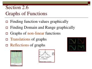 Section 2.6 Graphs of Functions
