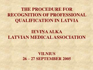 Certification of Latvian qualifications
