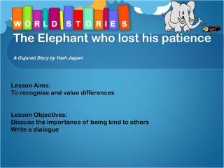 The Elephant who lost his patience A Gujarati Story by Yash Jagani