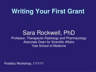 Writing Your First Grant