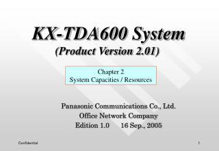 Panasonic Communications Co., Ltd. Office Network Company Edition 1.0      16 Sep., 2005