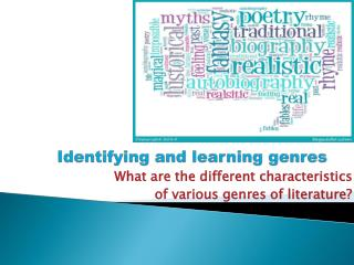Identifying and learning genres
