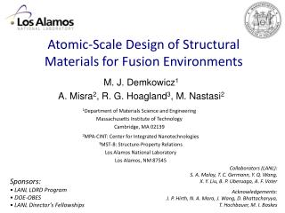 Atomic-Scale Design of Structural Materials for Fusion Environments