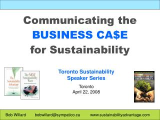 Communicating the BUSINESS CA$E for Sustainability