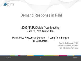 Demand Response in PJM