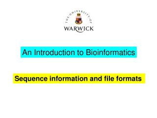 Sequence information and file formats