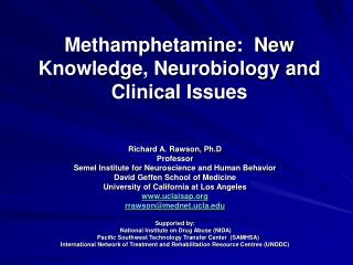 Methamphetamine:  New Knowledge, Neurobiology and Clinical Issues