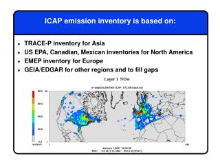 ICAP emission inventory is based on: