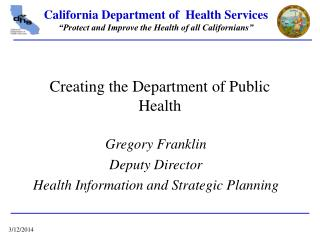 Creating the Department of Public Health