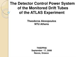 The Detector Control Power System  of the Monitored Drift Tubes of the ATLAS Experiment