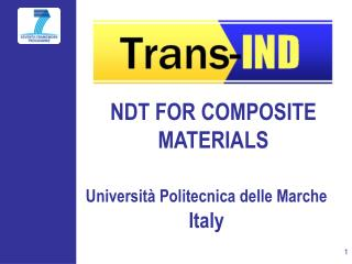 NDT FOR COMPOSITE MATERIALS