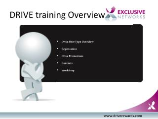 DRIVE training Overview