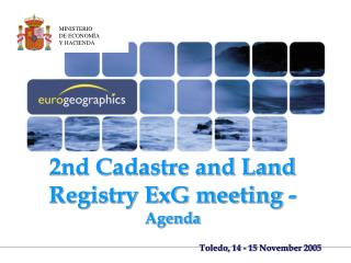 2nd Cadastre and Land Registry ExG meeting - Agenda