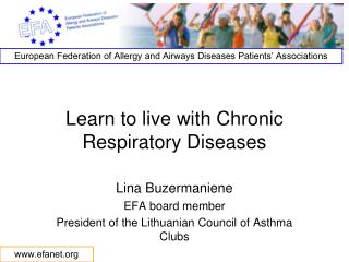 Learn to live with Chronic Respiratory Diseases