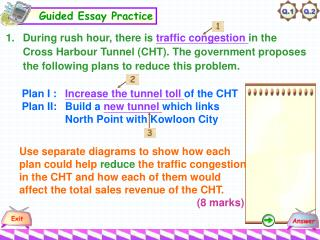 Plan I : Increase the tunnel toll of the CHT