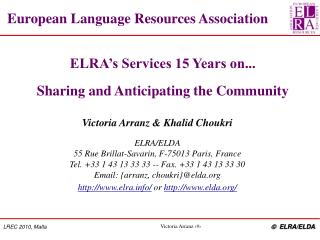 European Language Resources Association