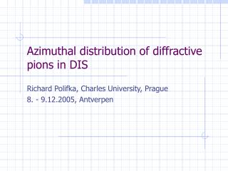 Azimuthal distribution of diffractive pions in DIS