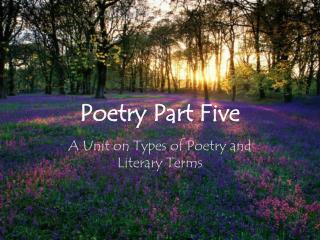 Poetry Part Five