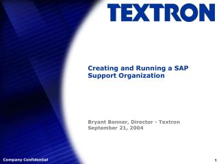 Creating and Running a SAP Support Organization