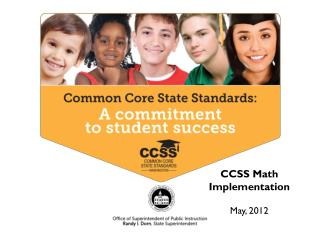 Common Core State Standards  Big Ideas -- MATH August, 2011