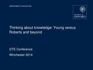 Thinking about knowledge: Young versus Roberts and beyond