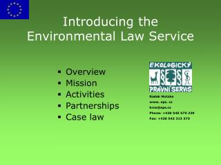 Introducing the Environmental Law Service