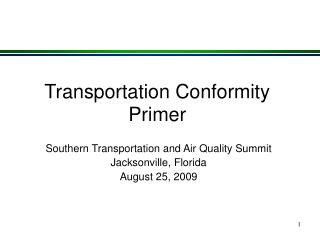 Transportation Conformity Primer