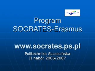 Program  SOCRATES-Erasmus socrates.ps.pl