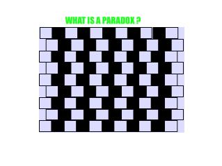 WHAT IS A PARADOX ?