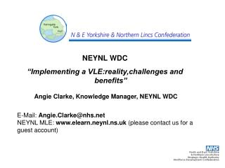 "NEYNL WDC ""Implementing a VLE:reality,challenges and benefits"""