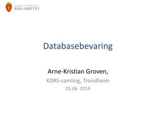 Databasebevaring