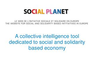 A collective intelligence tool dedicated to social and solidarity based economy